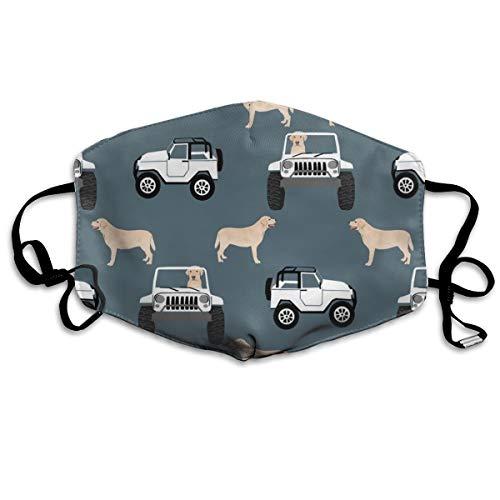 Yellow Lab Adventure Anti-Staub-Maske, für den Außenbereich, für Hunde, Hunde, Labrador, Grau, Anti-Verschmutzung, waschbar, wiederverwendbare Mundmasken (Lab Hunde Kostüme)