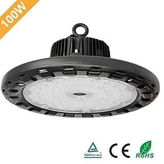 Anten LED High Bay Licht 14000lm 100W Kaltweiß(6000-6500K) LED Hallenleuchte/LED SMD Hallenstrahler Dank Schutzart IP65 sowohl für den Innen- als auch Aussenbereich