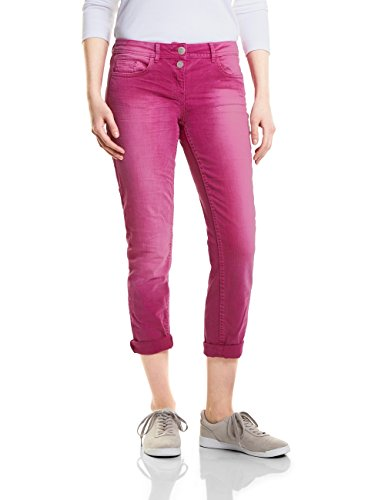 CECIL Damen Straight Jeans 371261 Scarlett, Rosa (Magic Pink 11277), 42 (Herstellergröße: 31)
