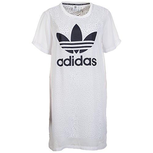 adidas Trefoil Kleid Damen 36 - S (Strukturierte Kleid Baumwolle)
