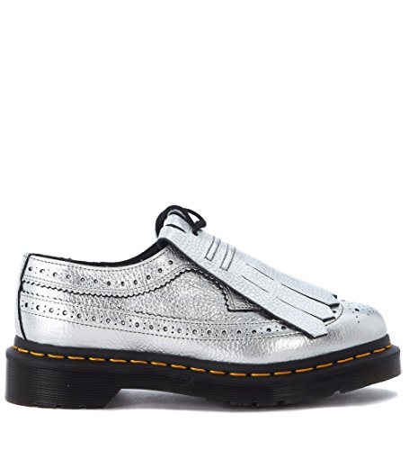 Dr.Martens Womens 3989 Metallic Kiltie Leather Shoes