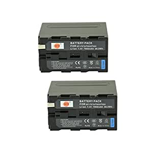 DSTE®(2 Pack)Spare Battery for Sony NP-F970 CCD-SC55 CCD-SC65 CCD-TR67 CCD-TR76 CCD-TR87 CCD-TR516 CCD-TR555 CCD-TR716 CCD-TR818 CCD-TR910 CCD-TR917 CCD-TR930 CCD-TR940 CCD-TR3000 CCD-TR3300 Camera