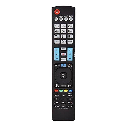 enung, ABS TV Ersatzfernbedienung Fernseher Remote Controller,10M Übertragungsdistanz,für LG TV 60LA620S AKB73756504 32LM620T AKB73275618 AKB73756502 Schwarz ()