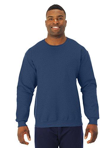 Adult 8 oz., NuBlend� Fleece Crew VINTAGE HTH NAVY XL (Scoop Neck Fleece Sweatshirt)