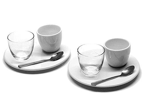 Arzberg Retsch Service Nice Set à Expresso, Porcelaine, Blanc, 27 x 27 x 15 cm