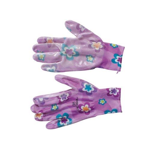 Siena Garden Handschuh Young Style, lila Nylon, Nitril, Größe 7, 945924
