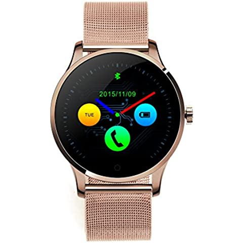 RG Bluetooth intelligente bracciale striscia orologio sportivo in acciaio per iOS sistema Android iPhone Samsung HTC, in oro rosa - Rose Rose Gold Pocket Watch