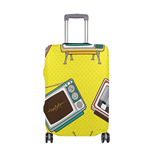 MyDaily Retro TV Pop Comic Gepäckabdeckung passend für 45,7-81,3 cm Koffer Spandex Reiseschutz