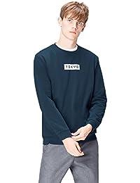 Amazon-Marke: find. Herren Sweatshirt Tokyo Print Crew Neck