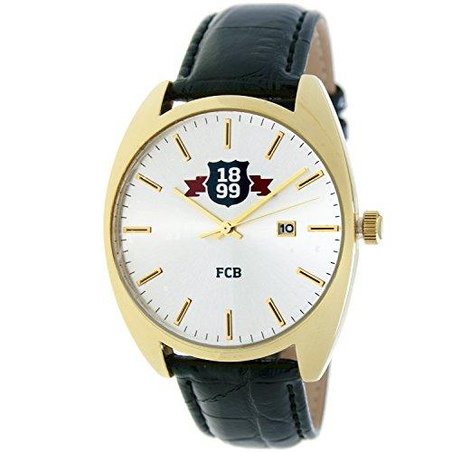 RADIANT Reloj analógico de caballero F.C.BARCELONA – Correa de piel – Dorado – BA-16601 Swiss