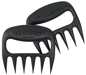 Bear Paw Products, Inc. Pulled Pork Shredder Claws - Meat Handler Forks Black