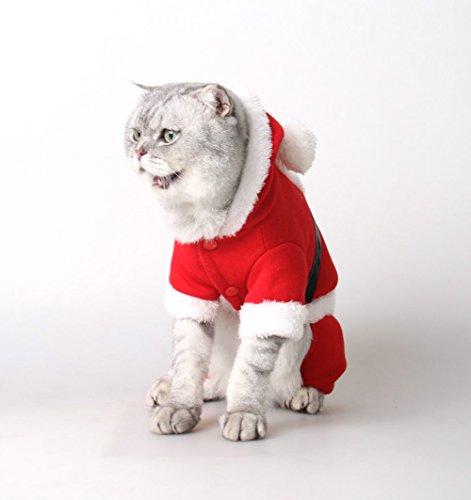 KurzDE Kostüm Haustier Kleidung Katze Weihnachten Haustierkleidung Katzenbekleidung Hundebekleidung (Katze Kostüm Weihnachts)