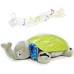 BNZHome Constelación bebé luz de noche con sonido Starlight proyector para niños Soothing Dream luces elefante suave juguetes de bebé durmiendo Juguetes Mejor regalo