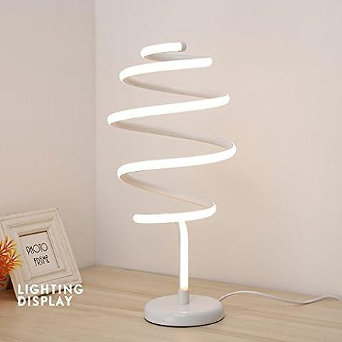 Ywyun Kreative Persönlichkeit gekrümmte Lampe, weiße LED-Lampen modern, energiesparende dekorative Lampe Schlafzimmer Kopfstudie ( Color : White )