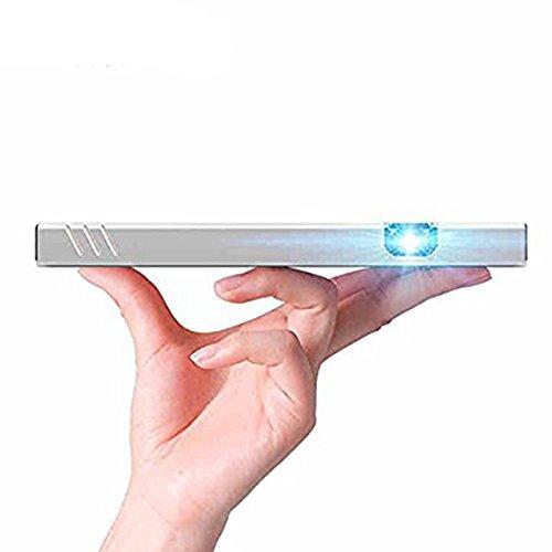 Coolux @ Pico Projecteur 2016 Conduit Mini Batterie De 15000mAh Dirigé DLP HDMI Home Cinéma est Compatible Avec la Plupart Des Téléphones Sans Fil Bluetooth WIFI, Tablettes et Ordinateurs Portables