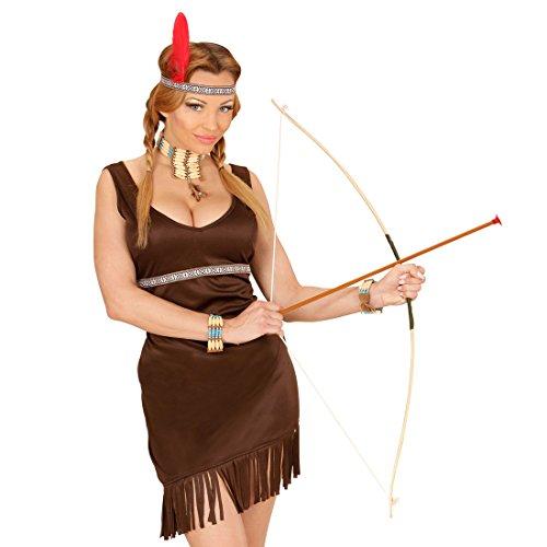 Kinder Bogenschießen Kostüm - Amakando Robin Hood Set Pfeil und Bogen für Kinder Indianer Pfeilbogen Kinderbogen mit Köcher Kostüm Zubehör Bogenschießen Bogenschütze