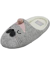 Inware Zapatillas de estar Por casa de Material Sintético Para Mujer Beige Beige Beige Size: 35-37 w0K3aw32