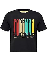 ad12aabd9 Pokémon Pikachu Boys T-Shirt with Gotta Catch 'Em All Design | Cotton Black