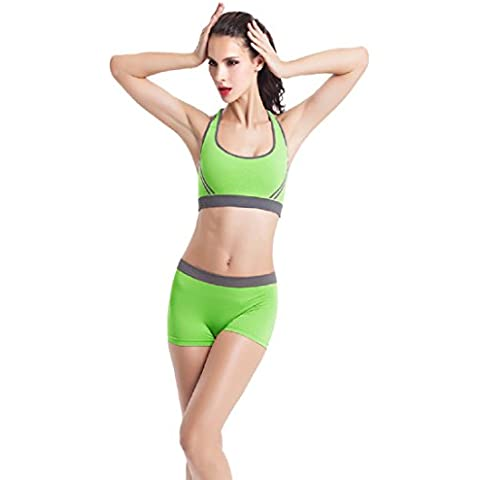 Ularma Moda Nuevas mujeres acolchado sujetador Racerback atlético chaleco Gimnasio Fitness Yoga shorts