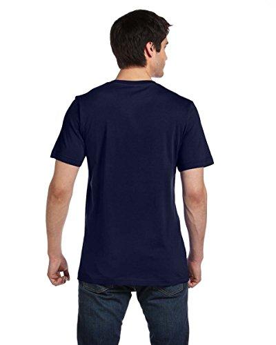 Wei§e Skelett HŠnde auf American Apparel Fine Jersey Shirt marineblau