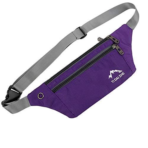 TRAVELER-Mode Neutre Extérieur Zipper Messenger Sac Sport Poitrine Sac Taille Sac Adolescent 30X13.7CM