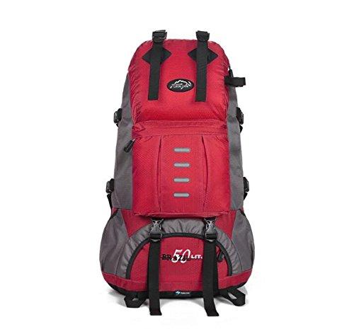 Wmshpeds Grande capacità zainetto 50L multi-purpose alpinismo borsa tracolla uomini e donne pacchetto di escursioni A