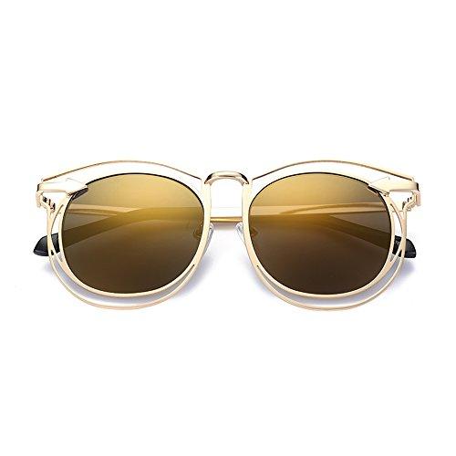 ZHIRONG Lunettes de soleil polarisées de plage de mode, protection solaire contre UV, voyage extérieur, lunettes de conduite, cadre en métal ( Couleur : 06 )
