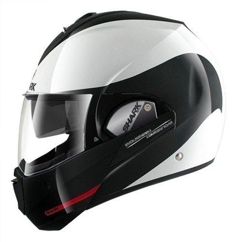 Shark Motorradhelm Evoline Series 3 Hakka, Schwarz/Weiß, Größe L