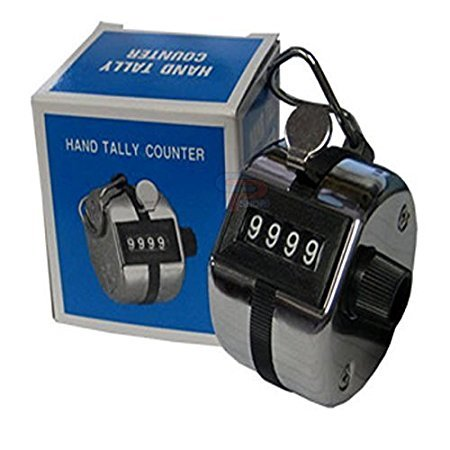 Hanumex Steel Hand Held 4 Digit Manual Tally Counter(Silver)