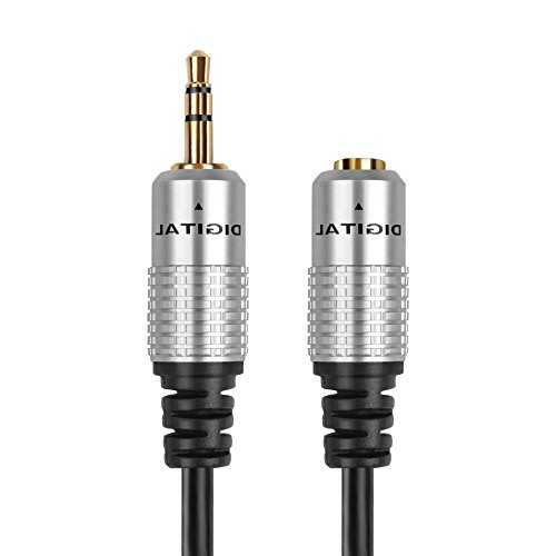 TNP AUX Kopfhörer 3,5 mm Verlängerungskabel - männlich zu weiblich Extender Audio AUX Klinke Adapter Kabel Stecker Stecker für iPhone iPod iPad, Smartphone Tablet, Home Auto-Lautsprecher System