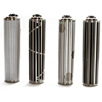 Clipper 70, Plata fundas geométrico 4 - Mini colección, pack de 6 encendedores