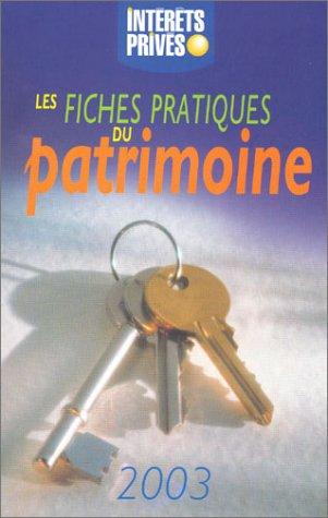 Les fiches pratiques du patrimoines 2003