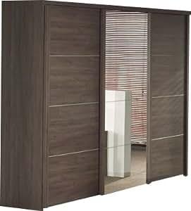 Armoire 280 cm à 3 portes coulissantes pour chambre adulte