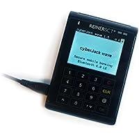 REINERSCT cyberJack wave Bluetooth + USB Chipkartenleser mit TFT-Display, Touch PIN-Pad  + Akku. Fuer Notebook, Smartphone + Tablet