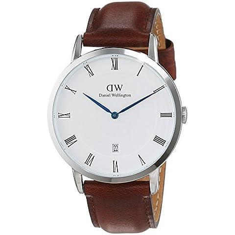 Daniel Wellington 1120DW - Reloj con correa de acero para hombre, color blanco / gris