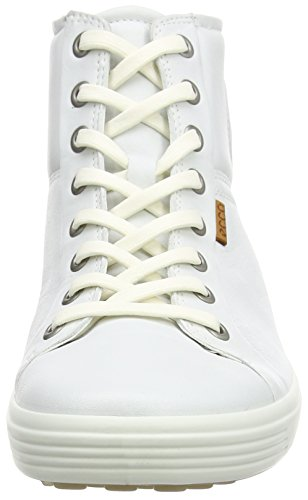 Ecco Damen Soft 7 Ladies High-Top Weiß (WHITE 1007)
