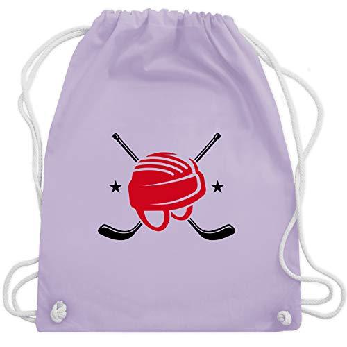 Eishockey - Helm Eishockeyschläger - Unisize - Pastell Lila - WM110 - Turnbeutel & Gym Bag