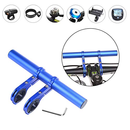 Tinke Fahrrad Lenker Extender 20cm Aluminiumlegierung Halterung für Xiaomi M365 Scooter Extender Halterung für GPS, Licht, Sport Kamera oder Smartphones - Blau