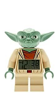 LEGO Star Wars Yoda Kinder-Wecker mit Minifigur und Hintergrundbeleuchtung | grün/braun | Kunststoff | 24 cm hoch | LCD-Display | Junge/ Mädchen | offiziell