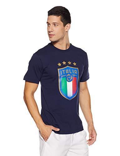Puma Herren FIGC Italia Badge Tee Shirt Peacoat XL Preisvergleich