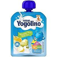 NESTLÉ YOGOLINO Bolsitas, con Manzana y Pera, para bebés a partir de 6 meses - Paquete de 16 unidades x 90 g