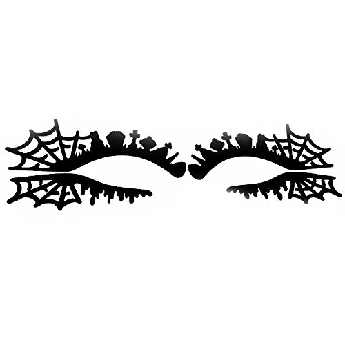 ider Web Halloween Eye Tattoo Aufkleber Squishy Spitze Fretwork Papercut Masquerade ()