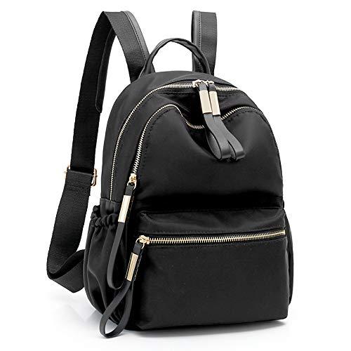 Borsa da campus in tessuto di nylon impermeabile e resistente all'usura fashion shopping travel travel small backpack black