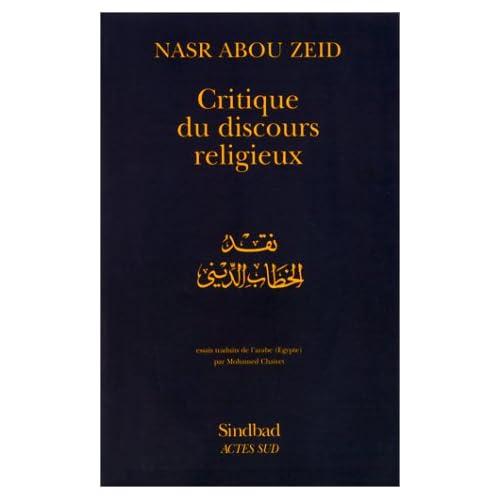 Critique du discours religieux
