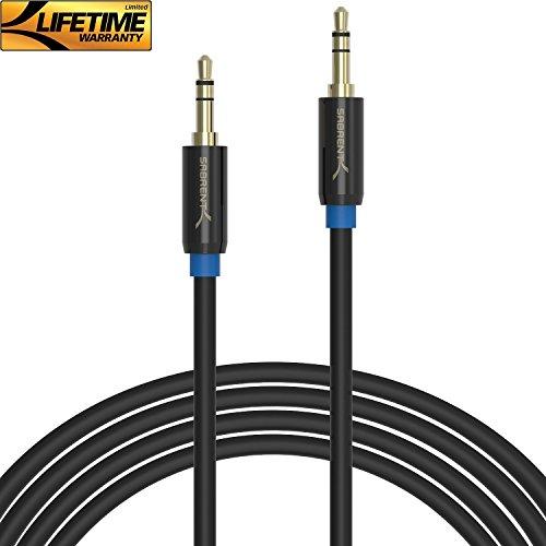 Sabrent Klinkenkabel Aux-Kabel, für AUX Eingänge, Stereo-Audiokabel, Kontakte Gold überzogen, 3,5 mm-Klinkenstecker auf 3,5 mm-Klinkenstecker, für MP3-Player, Bluetooth-Speaker-Box, Stereo, Laptops, Handy, Autoradio und mehr. [Step Down Design] 7.90Meter (CB-AUX8)