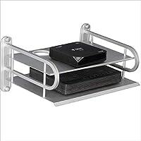 FU HOME Sala de Estar TV de Pared Set Top Box Shelf/Shelf, Wall-Mounted WiFi Storage Rack Gratis Punzonado