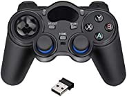 USB Wireless Gaming Controller Gamepad for PC/Laptop Computer(Windows XP/7/8/10) & PS3 & Android &