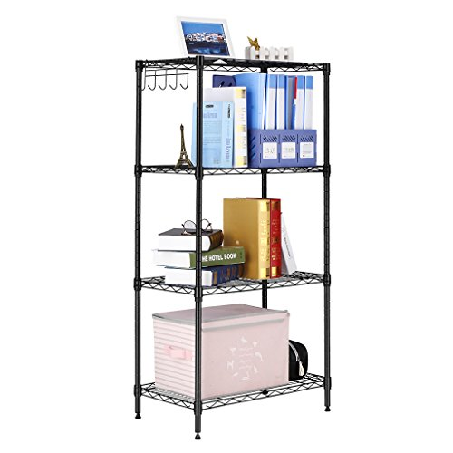 LANGRIA 4-Shelf All-Metal Shelvi...