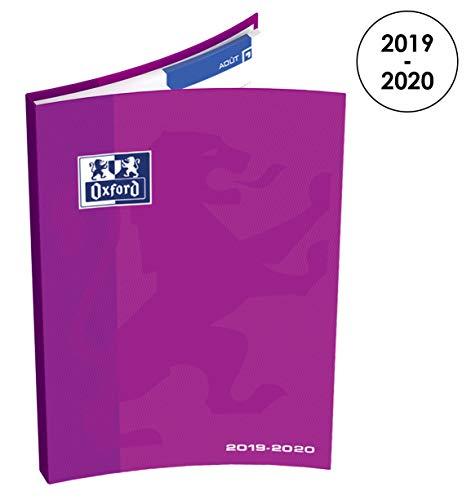 OXFORD 100738297 School Agenda Scolaire semainier 2019-2020 1 Semaine sur 2 Pages 128 pages 12x18 Violine