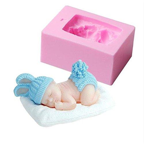 DIY Silikonform schlafend Baby Herstellung Süßigkeiten Fondant Party Kuchen Dekoration Werkzeuge 3D Craft Art Form Fimo Ton Seife Kerze Formen Silikon Antihaft Fondant Kuchen Backform Küche Zubehör
